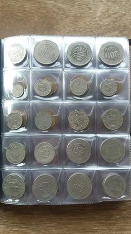 Lbum de moedas brasileiras e estrangeiras sem repetição