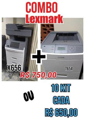 Impressoras lexmark - combo (x656 + t654)
