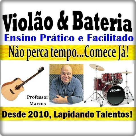 Aulas de violão e bateria (professor particular)