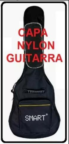 Capa guitarra smart basic nylon preto 1 bolso e zíper