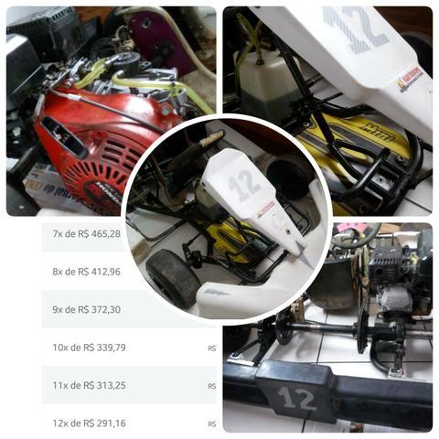 Kart cadete mini motor honda 5,5 hp + acessórios