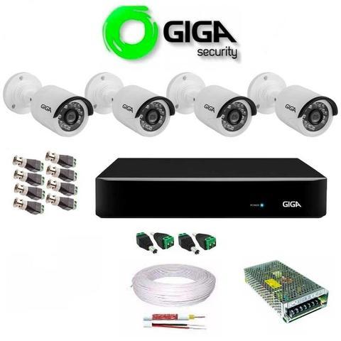 Kit Câmeras de Segurança Giga 4 Canais com instalação