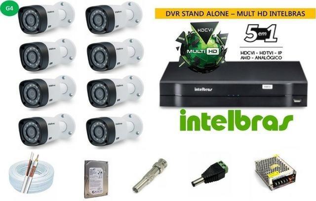 Kit de segurança intelbras 8 canais - com instalação