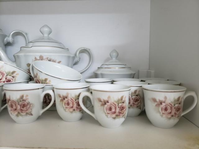 Jogo para chá e café - porcelana real