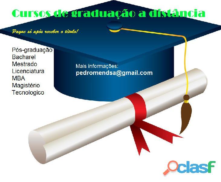 Adquira seu diploma de graduação ead pague só após receber