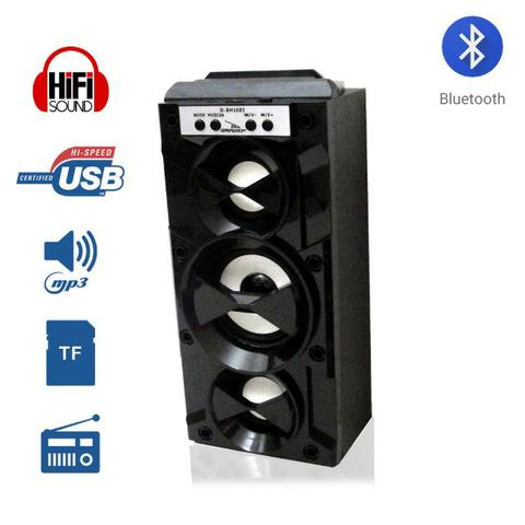 Caixa de som amplificada portátil bluetooth d-bh1085 grasep
