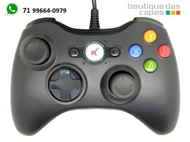 Controle xbox com fio dualshock xbox 360 pc knup