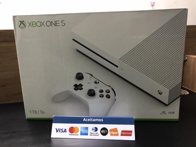 Xbox one s 1tb:::: acompanha jogo /// com garantia!