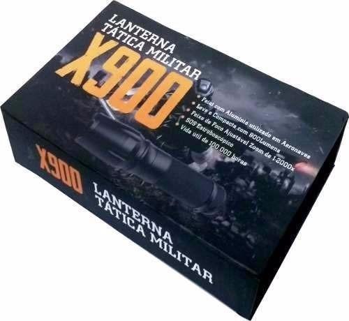 Lanterna x900 tática militar original na caixa promoção