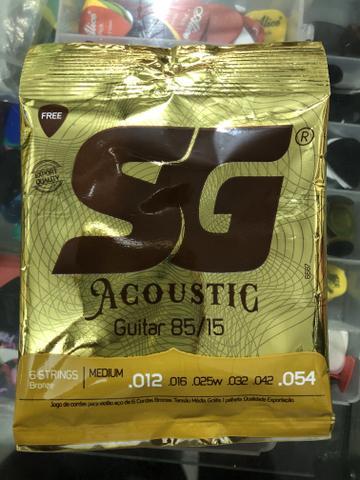 Encordoamento sg aço 012 para violão