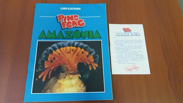 Lbum figurinhas ping pong amazônia para colecionadores