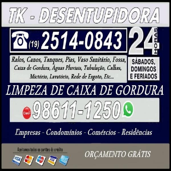 19) 98611-1250 desentupidora na vila santana em campinas