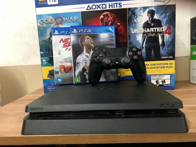 Ps4 slim semi 500gb preto com garantia