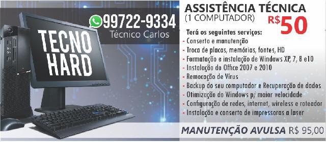Assistência técnica de computadores e notebooks