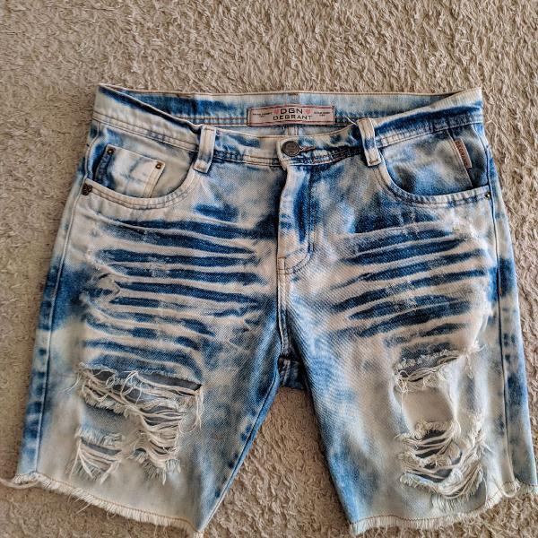 Bermuda jeans estilo john john rasgada top destroyed