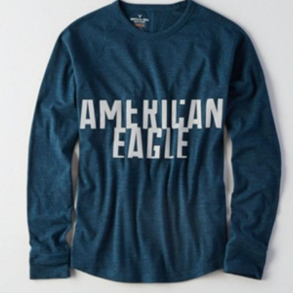 Camiseta manga longa american eagle