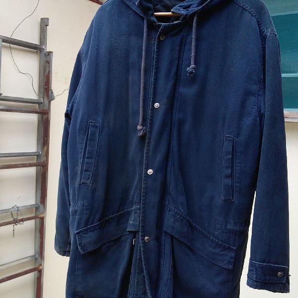 Casaco azul com capuz eurojeans tamanho m