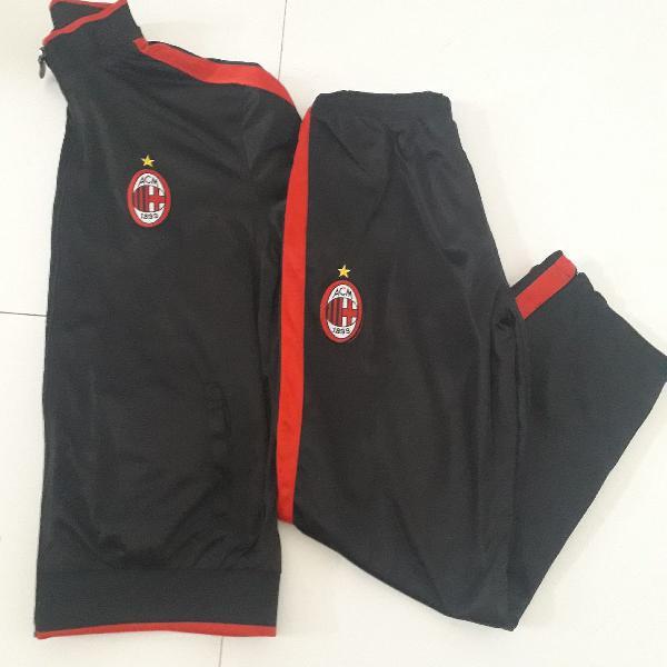 Conjunto esportivo milan da itália