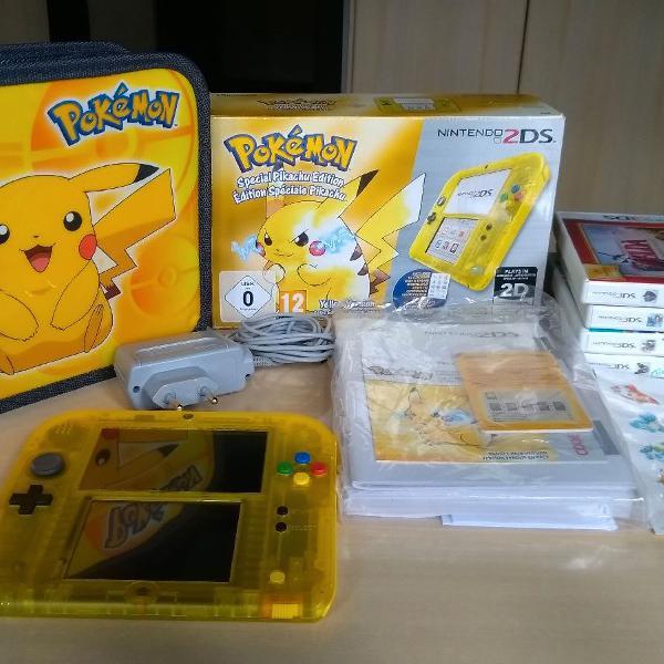 Nintendo 2ds special pikachu edition europeu