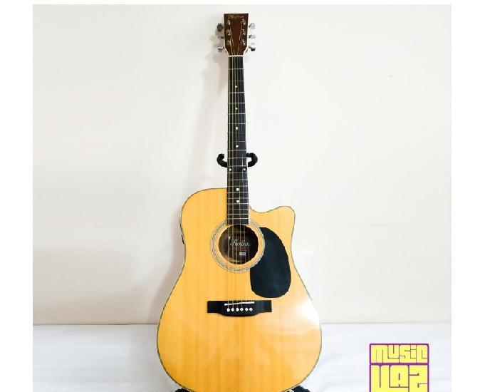 Violão folk elétrico hofma ye220