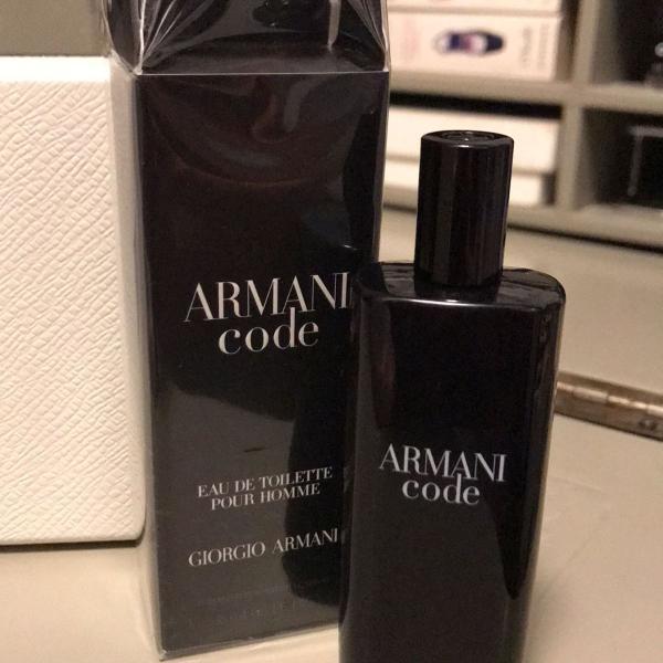 Armani code masculino novinho