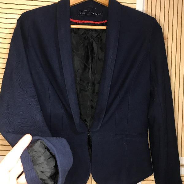Blazer azul marinho // zara // boa costura // confortável