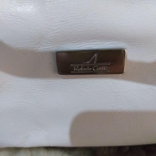 Bolsa branca da marca rafaela colt toda trabalhada