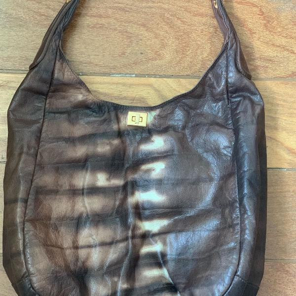 Bolsa couro marca caos estilo sacola, grande