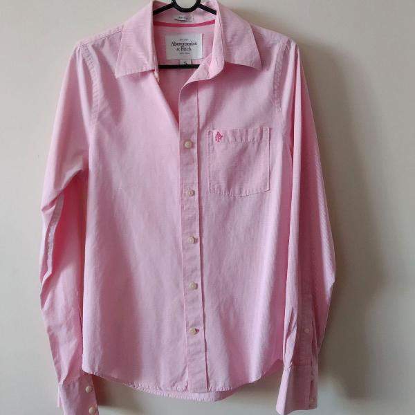 Camisa abercrombie and fitch rosa p