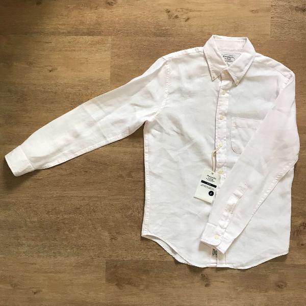 Camisa de linho abercrombie