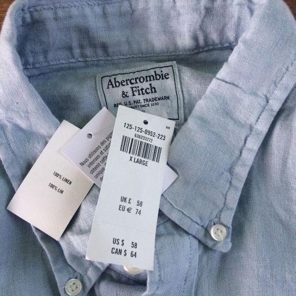 Camisa linho abercrombie