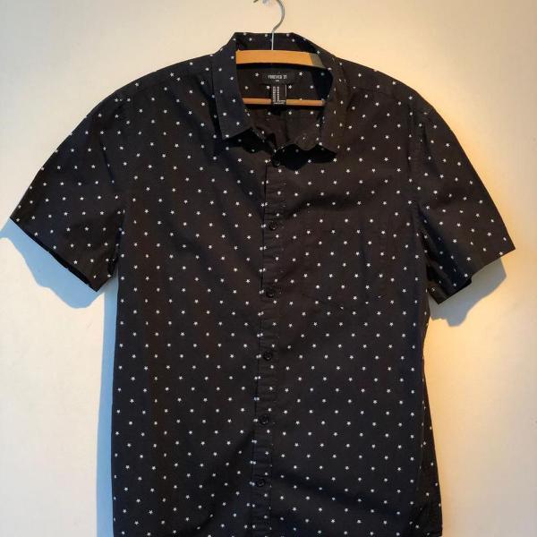Camisa manga curta estrelas f21