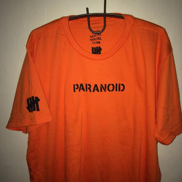 Camisa paranoid anti social clube undefeated supreme obey