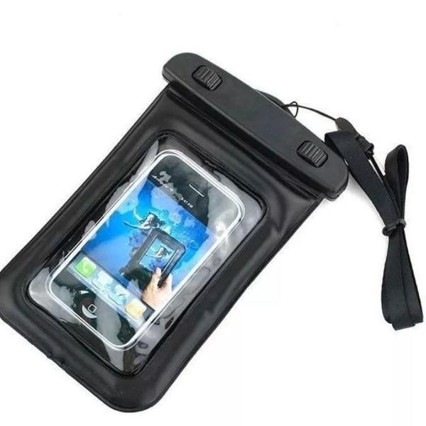 Capa bolsa estanque impermeável para celular até 6