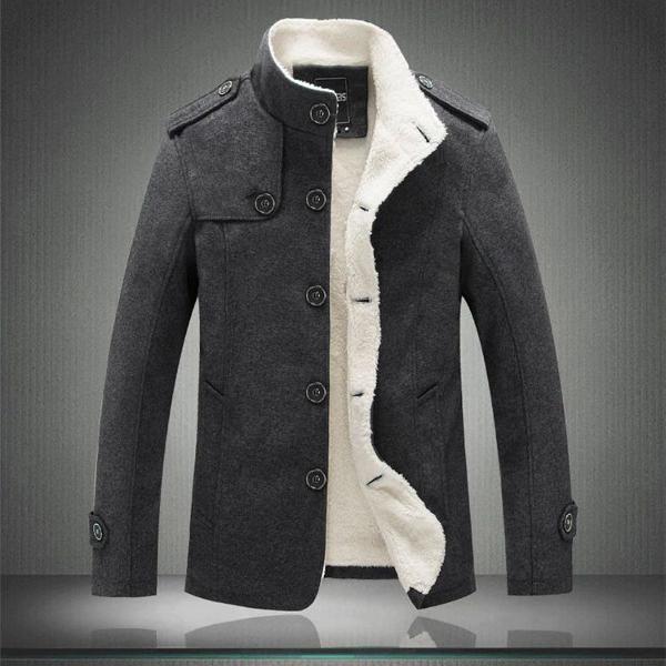 Casaco de inverno com forro de lã grossa e quente