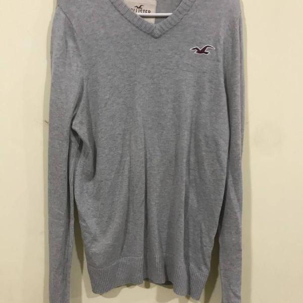 Casaco suéter hollister cinza
