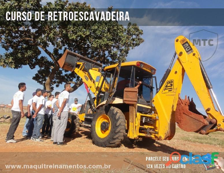 Curso de retroescavadeira brasília   df, goiás, minas gerais