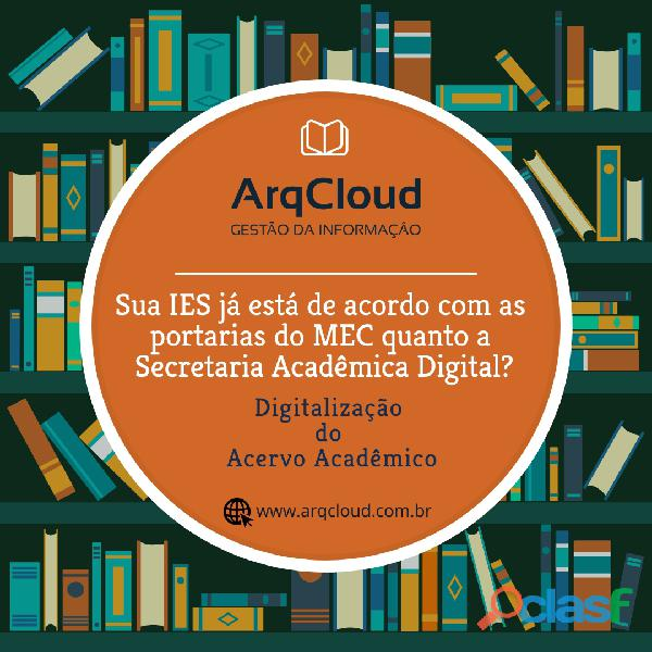 Digitalização de documentos da secretaria acadêmica para ies em londrina pr e região