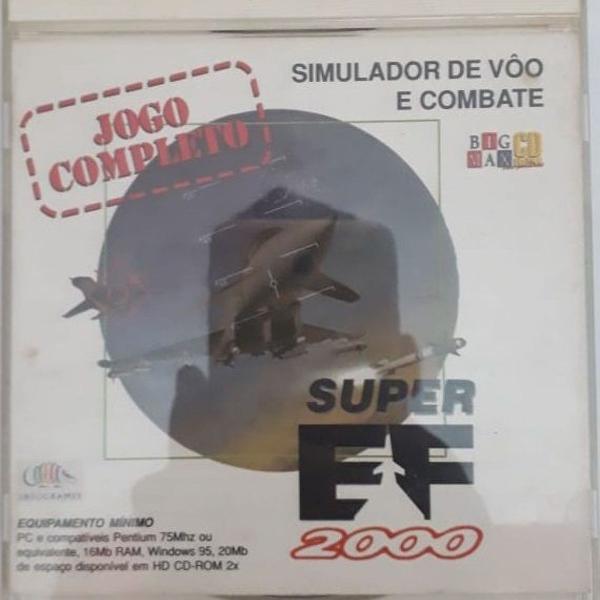 Jogo pc - simulador de vôo e combate - super ef 2000