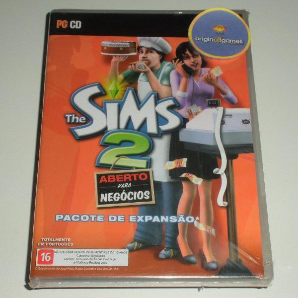 Jogo pc - the sims 2 - aberto para negócios - mídia