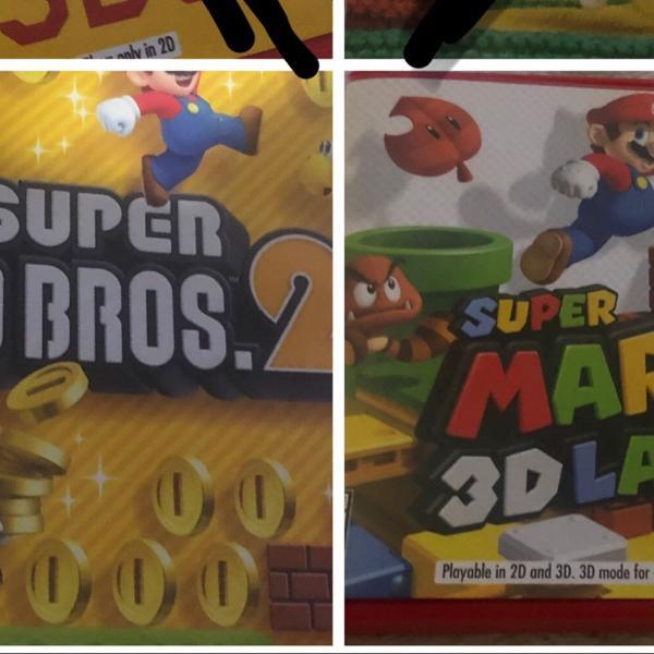 Jogos nintendo 3ds new super mario bros 2 + super mario