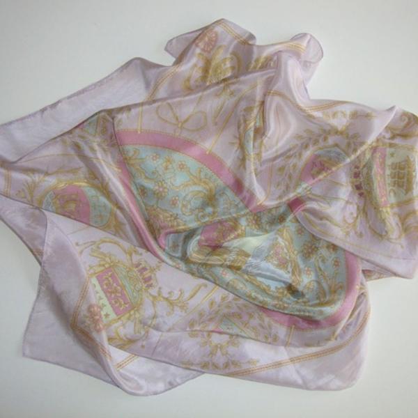Lenço de seda pura lilás