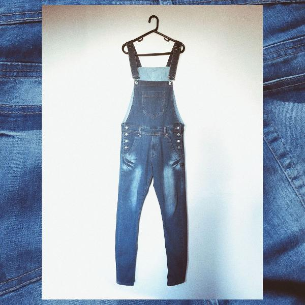 Macacão jeans zip off