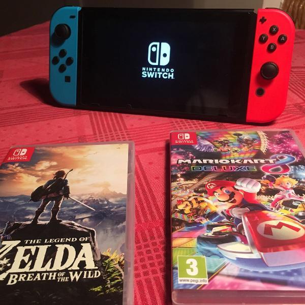 Nintendo switch + games top