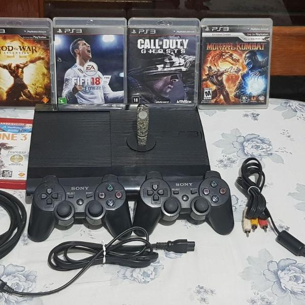 Ps3 super slim 500gb + jogos