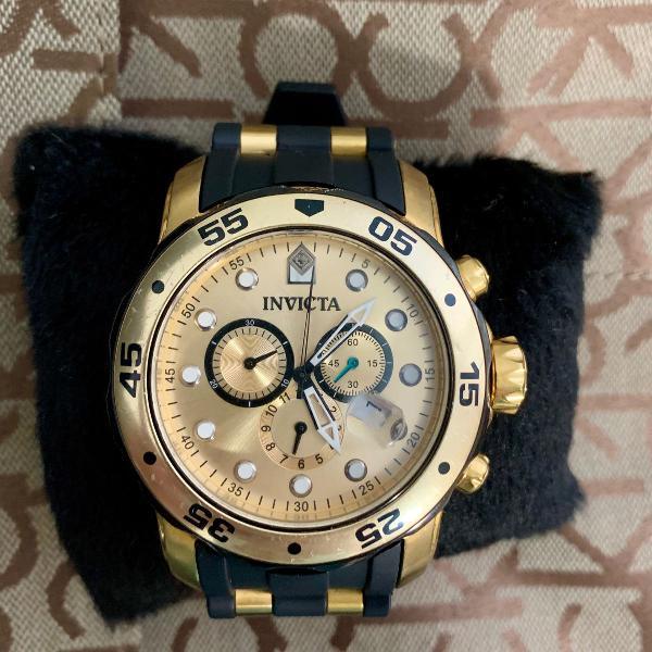 Relógio invicta pro diver 0073 dourado