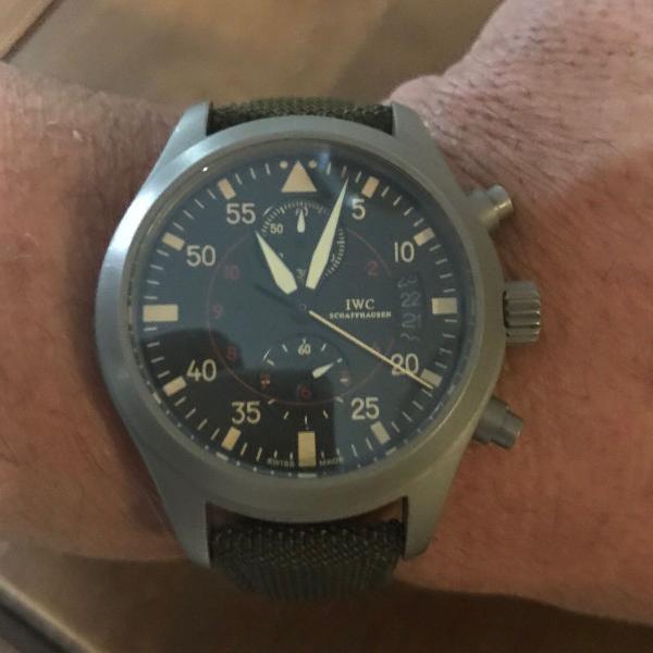 Relógio masculino iwc top gun