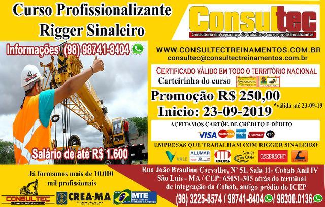 Curso profissionalizante para rigger sinaleiro r$ 250,00