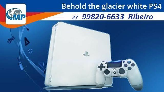 Playstation 4 slim branco! novo! completo! lacrado!!! melhor