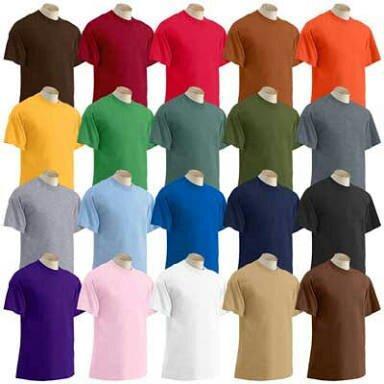 Camisetas básica 100% algodão - lisas e personalizadas